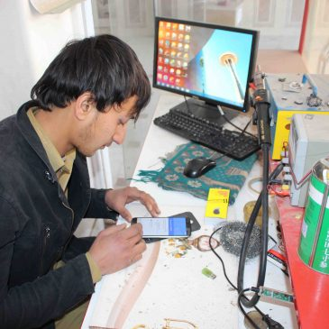 "Abdul Hamid- a successful case of ""Mobile Repair"" course funded by BMZ"